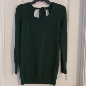 Emerald Maternity Sweater with Tie Back Detail